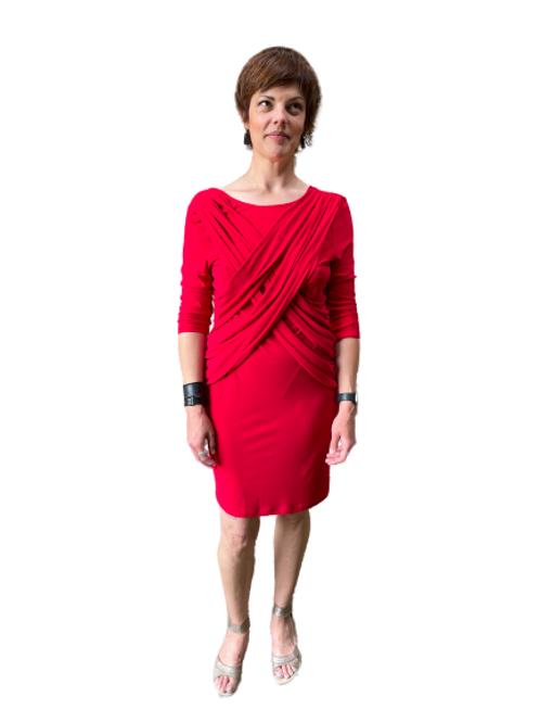 Argenti Dress in Black & Red