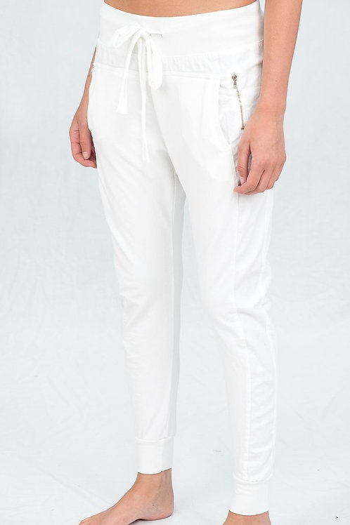 SuzyD White Joggers