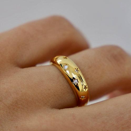 Katie Waltman Golden Star Dome Ring