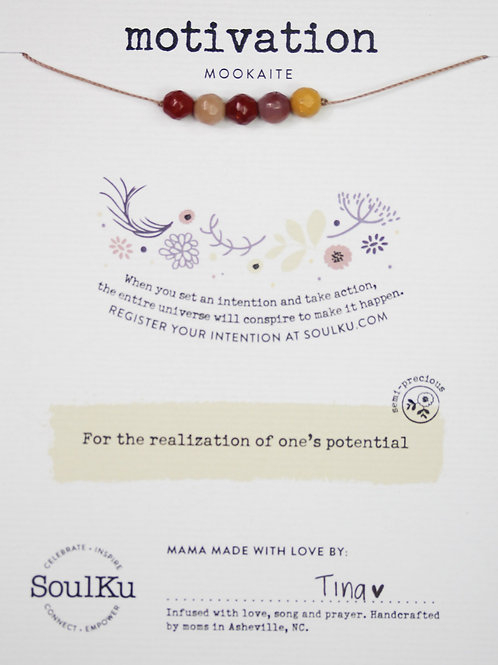 Soulku -Mookaite Intention Necklace for Motivation
