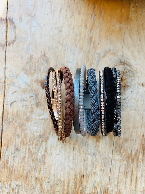 Braided Cord Leather Bracelet