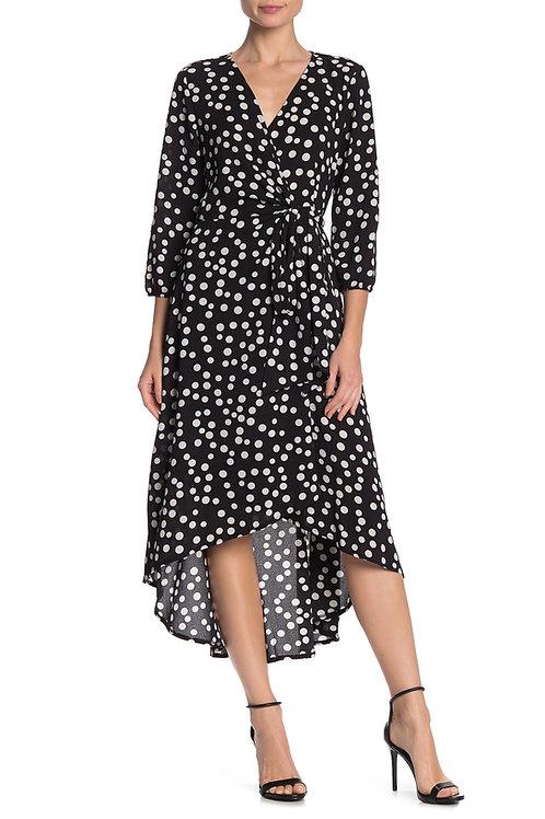 Tash + Sophie Polka Dot Wrap Dress