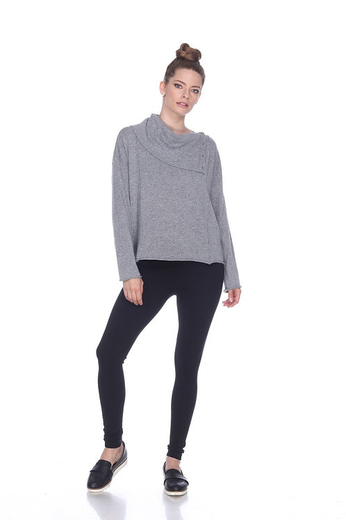 Sisters Cowl Neck Sweater in Grey