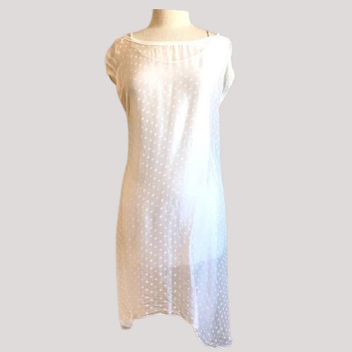 Angela Mara Polka Dot Slip Dress