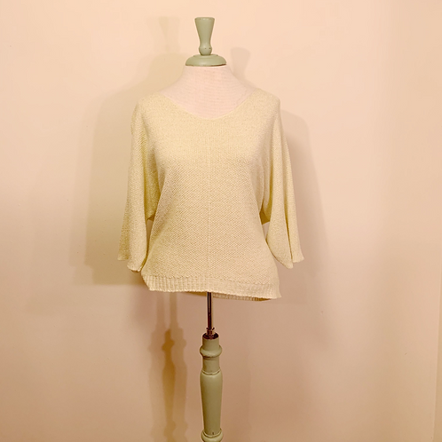 Suzy D Yellow Knit Top