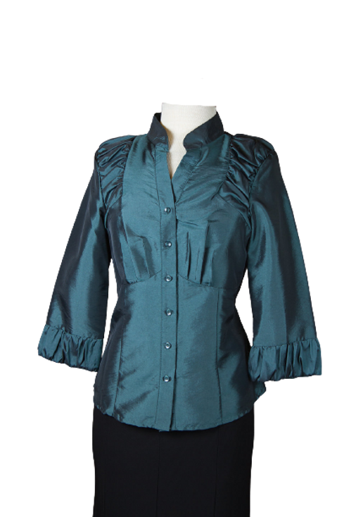 Piano Brand Blouse in Teal