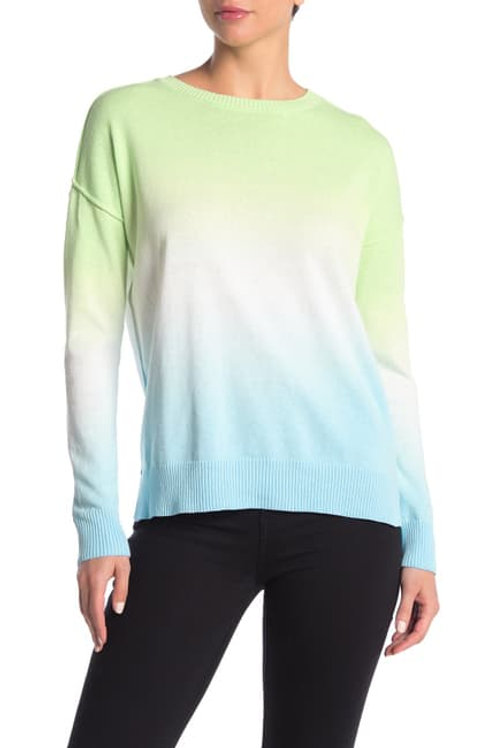 beachlunchlounge Tie Dye Print Crew Neck Sweater