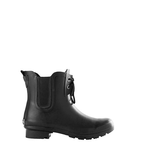 Roma Chelsea Lace Boots in Matte Black