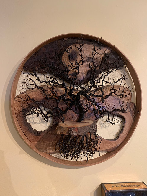 "16"" Round Oak Tree"