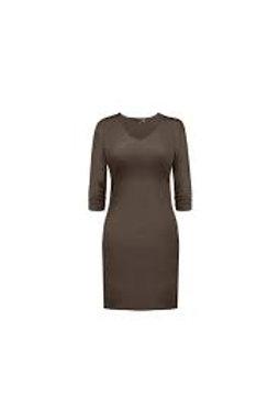 JudyP V-Neck 3/4 Sleeve Dress