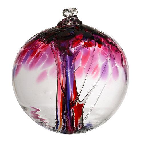 Kitras Art Glass Ornament -Love