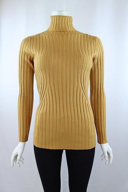 Metric Knits Ribbed Turtleneck Sweater