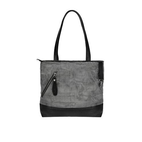 Planner Shoulder Bag in Charcoal