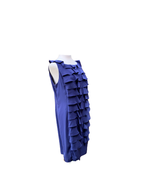 Adrianna Papell Ruffle Front Shift Dress