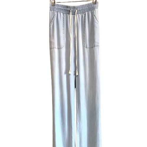 Side Stitch Wide Leg Beach Pant