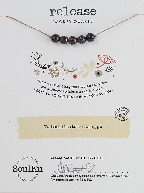 Soulku - Smokey Quartz Intention Necklace for Release