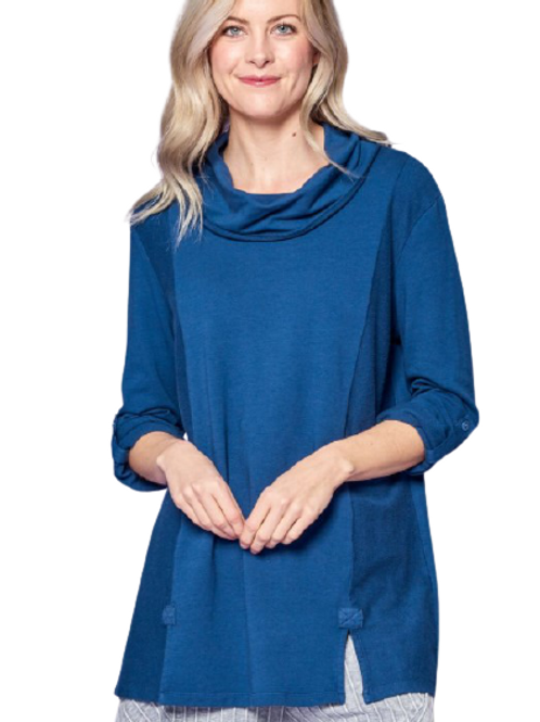 Focus French Terry Cowl Neck Tunic