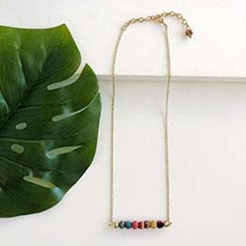 Kantha Horizontal Bar Necklace