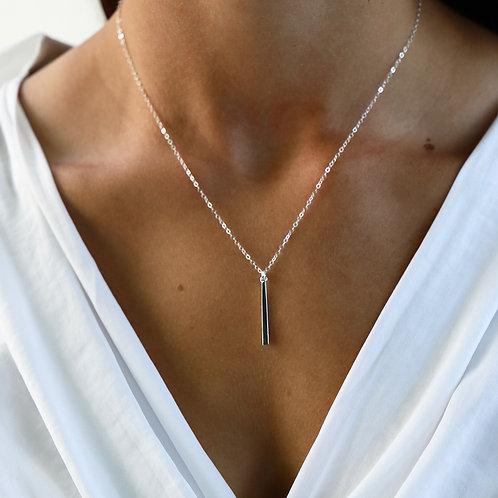 Katie Waltman Petite Plated Bar Necklace