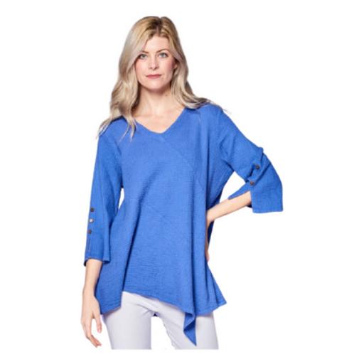 Focus Cotton Asymmetric Tunic Top