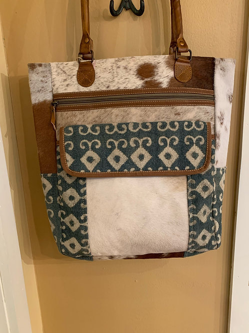 Clea Ray Canvas and Fabric Tote