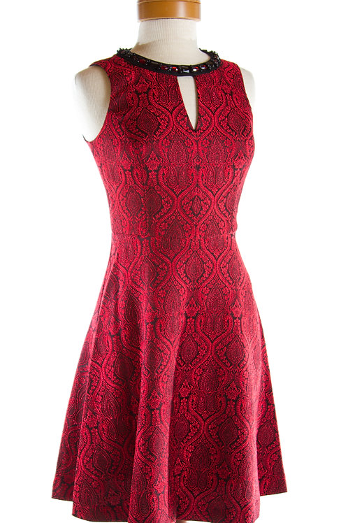 London Times Cocktail Dress in Red