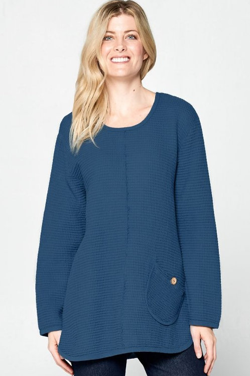 Focus Feather Waffle Long Tunic