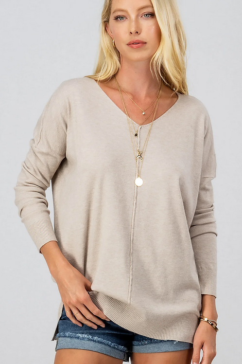 Urban Daisy Sweater  in Oatmeal