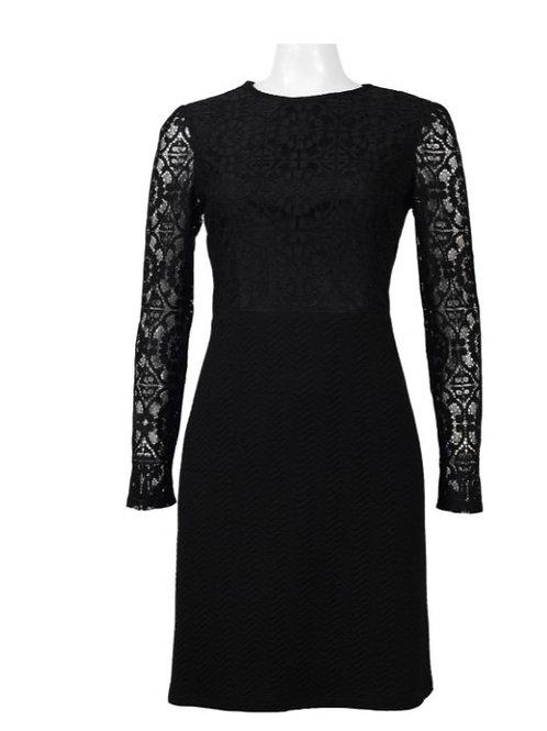London Times Lace Pique Dress