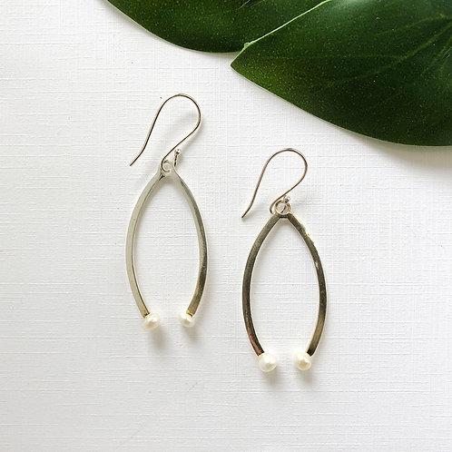 World Finds Pearl Open Drop Earrings