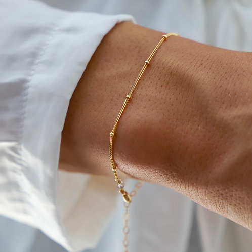 Katie Waltman Delicate Ball Chain Bracelet