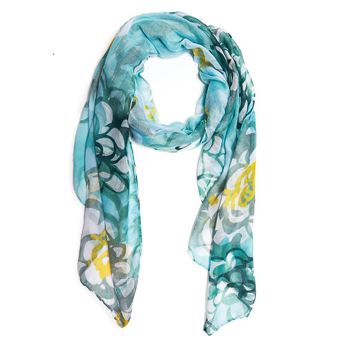 "Burano Scarf ""Shades of Jade"""