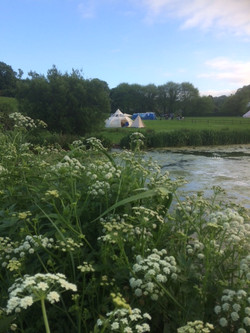 Pond bell tent