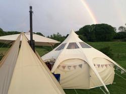 Rainbow Lotus Bell tent