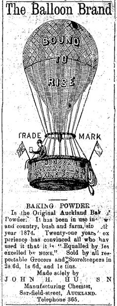 Balloon Brand Baking Powder Advertisement