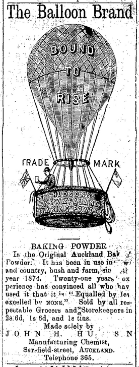 Balloon Brand Baking Powder Advertisement