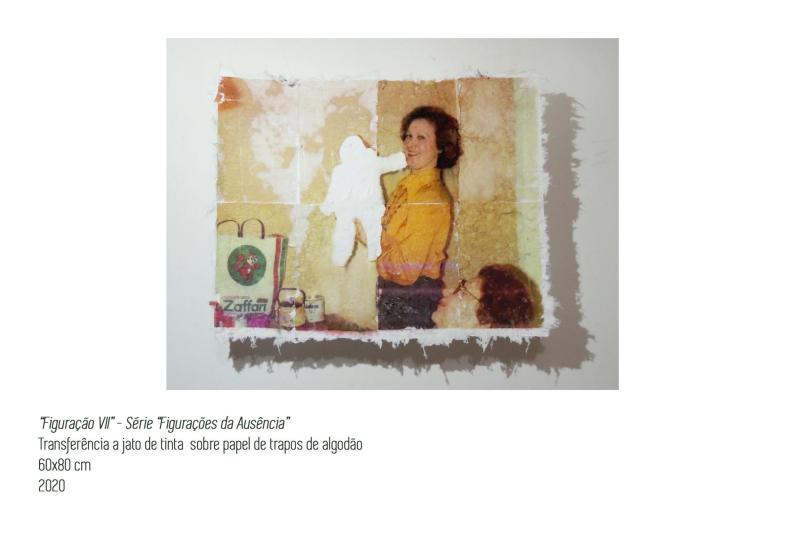 Fotografia impressa em tecido com transferência a jato de tinta, Stéfani Agostini