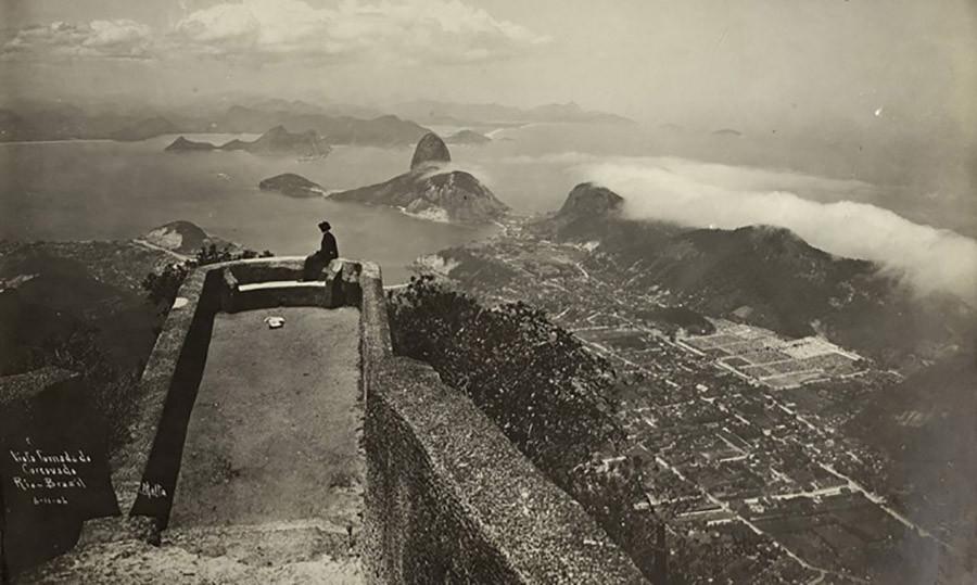 Vista do Morro do Corcovado, 1901. Foto: Augusto Malta
