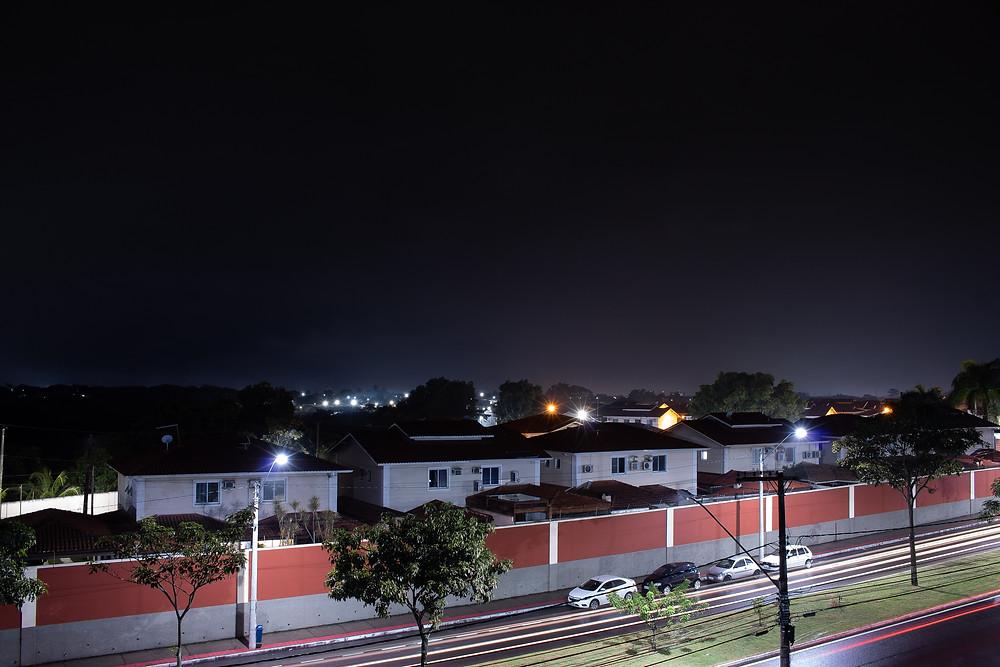 Longa exposição feita com Canon T6 e lente 18-55mm, além de um tripé. Foto: João Vitor Soares