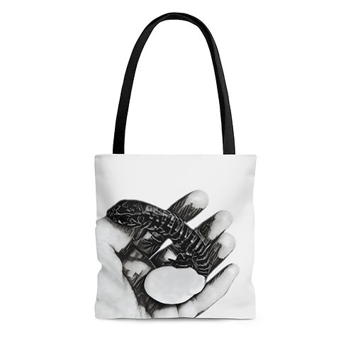 Tegu Hatchling Tote Bag, Lizard Bag, Reptile Tote, Tegu World