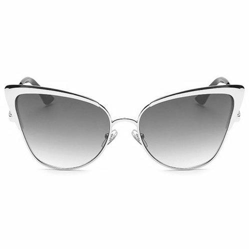 Golden Metal Cat Eye Frame Sunglasses