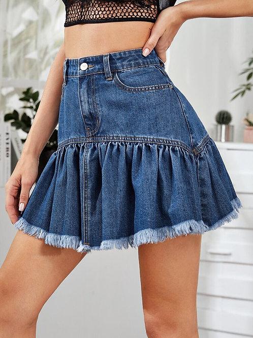 Denim Tennis Skirt