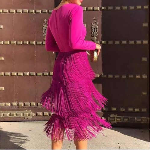 Hot pink shimmer dress
