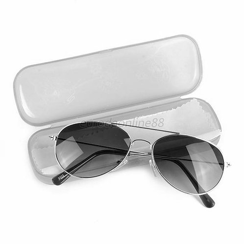 Toddler metal frame sunglasses with case