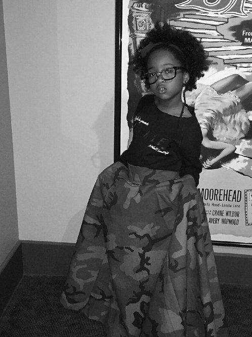 Drescode Customized Army Fatigue Skirt