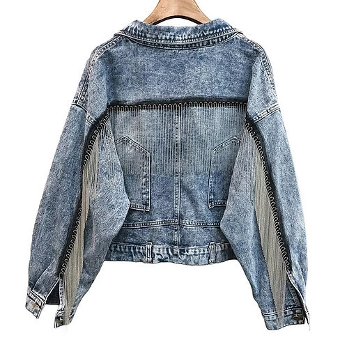Tassel Denim Single Jacket