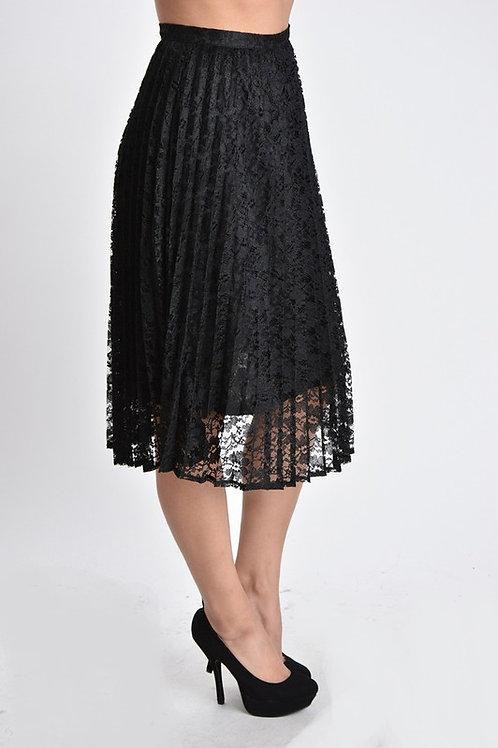 Lace PleatedAlign Skirt
