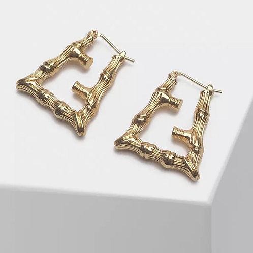 FF Motif Bamboo Earrings