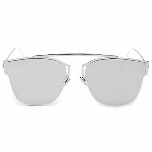 Silver Metal Mirror Sunglasses