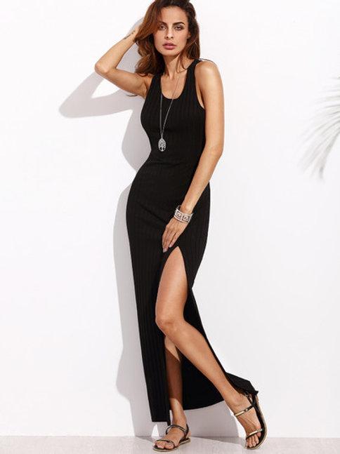 Black Razor Maxi Dress